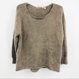 Soft surroundings taupe sweater